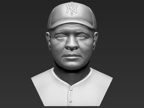 Babe Ruth bust in White Natural Versatile Plastic