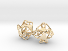 Tetron earrings in 14K Yellow Gold