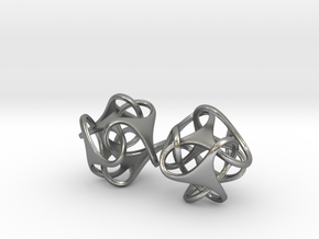 Tetron earrings in Natural Silver