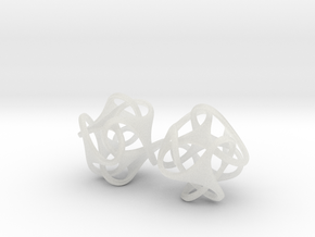 Tetron earrings in Smooth Fine Detail Plastic