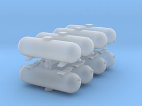 LPG Gas Tank (x8) 1/200 in Smooth Fine Detail Plastic