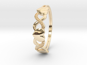 XOXO Ring in 14K Yellow Gold: 6 / 51.5