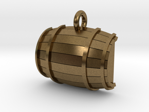 Keg / Barrel Pet Tag in Natural Bronze