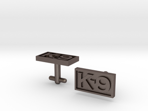 K-9 Cufflinks in Polished Bronzed Silver Steel