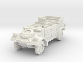 Kubelwagen Radio Car 1/76 in White Natural Versatile Plastic