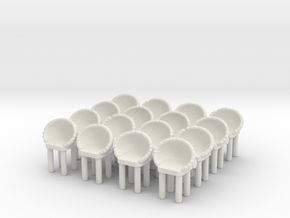 Modern Bar Chair (x16) 1/87 in White Natural Versatile Plastic