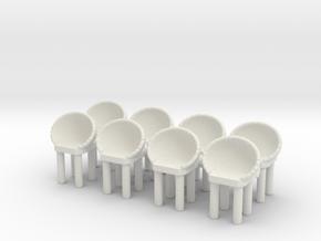 Modern Bar Chair (x8) 1/64 in White Natural Versatile Plastic
