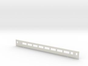3mm Scale Mk3 Coach TS Side b in White Natural Versatile Plastic