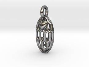 Love Bean in Polished Silver: Small