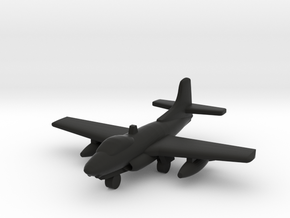Douglas F3D Skyknight in Black Natural Versatile Plastic: 1:500