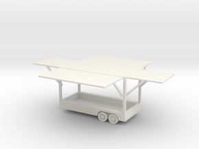 Game Trailer in White Natural Versatile Plastic