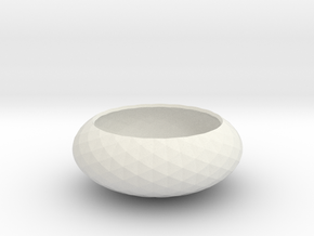 Spirals wrapped around bowl in White Strong & Flexible