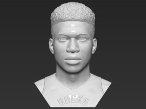 Giannis Antetokounmpo bust in White Natural Versatile Plastic