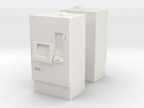 ATM Machine (x2) 1/76 in White Natural Versatile Plastic