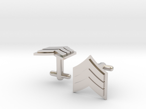 Sergeant Cufflinks - Silver,Brass,Gold in Platinum
