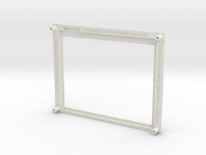 Nintendo Hobby Bezel , Arduino, Touch Screen in White Natural Versatile Plastic