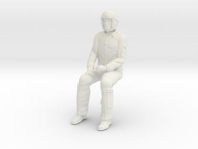 Pilot 01 seated pose .1:35 Scale in White Natural Versatile Plastic