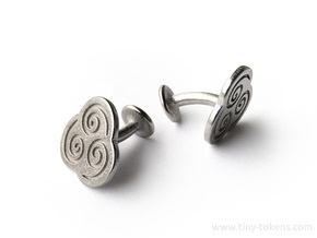 Air Element Cufflinks (Avatar the Last Airbender) in Polished Nickel Steel