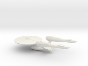2009 USS Enterprise  in White Premium Versatile Plastic