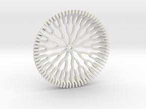 Branch Coaster in White Natural Versatile Plastic