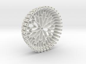 Branch Coaster | Lotus in White Natural Versatile Plastic