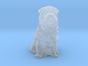 S Scale Shar Pei in Smooth Fine Detail Plastic
