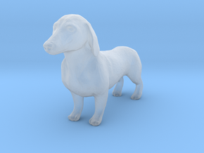 HO Scale Dachshund in Smooth Fine Detail Plastic