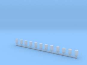 IGLOO water coolers - 1/87 scale - 12 pieces in Smooth Fine Detail Plastic