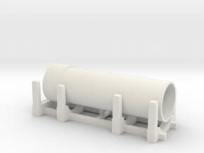 Pipe Transport 1/43 in White Natural Versatile Plastic