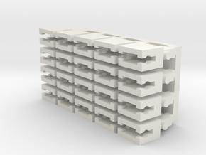 1:120 TT Gauge Coupler extension for PIKO locomoti in White Natural Versatile Plastic