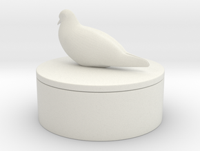 Modern Sculpture Design in White Natural Versatile Plastic: Small