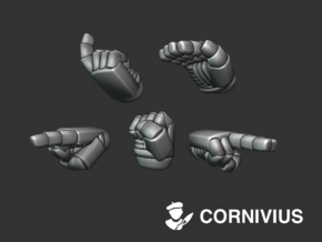 30x Marine Hands: Command_Set in Smooth Fine Detail Plastic