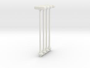 Double Street Lamp (x4) 1/120 in White Natural Versatile Plastic
