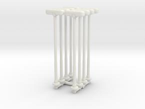 Double Street Lamp (x8) 1/144 in White Natural Versatile Plastic