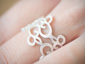 Womens Ring - Organic Filigree Vine Ring - iXi Des in Natural Silver