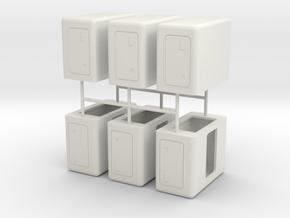 "1/50th builders pack 6 48"" flat top sleepers in White Natural Versatile Plastic"