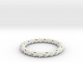 Twisted Column Bangle in White Natural Versatile Plastic