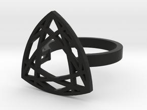 Trillion cut 59mm circumference in Black Premium Versatile Plastic