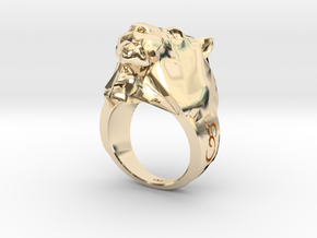 Lion Ring - iXi Design - Fashion Rings - Size 7 in 14K Yellow Gold