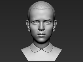 Eleven from Stranger Things bust in White Natural Versatile Plastic