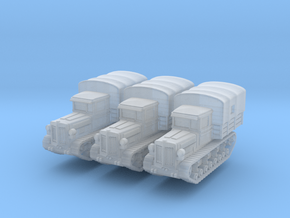 Komintern tractor (covered) (x3) 1/220 in Smooth Fine Detail Plastic