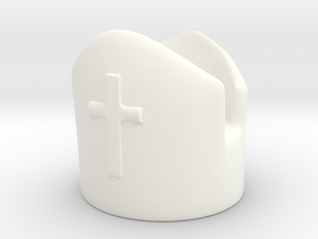 Bishop in White Processed Versatile Plastic
