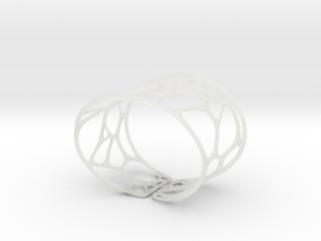 Bracelet Voronoi II  in Smooth Fine Detail Plastic