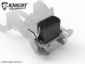 KCJL1008 SCX10iii Servo Winch Mount in Gray PA12