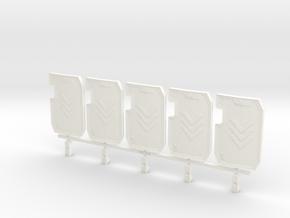 Primaris Boarding Shield - Punishing Hand V1  x5 in White Processed Versatile Plastic