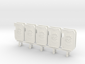 Primaris Boarding Shield - Punishing Hand V2 x10 in White Processed Versatile Plastic