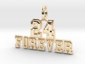 24 Forever - RIP Kobe Bryant in 14K Yellow Gold: Small