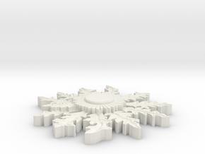 Eguzkilore for magnet in White Natural Versatile Plastic