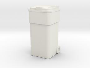 Waste Container Bin 1/35 in White Natural Versatile Plastic