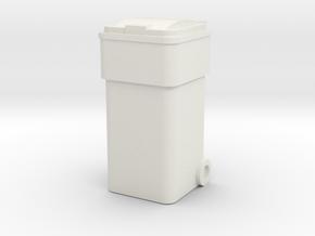 Waste Container Bin 1/12 in White Natural Versatile Plastic